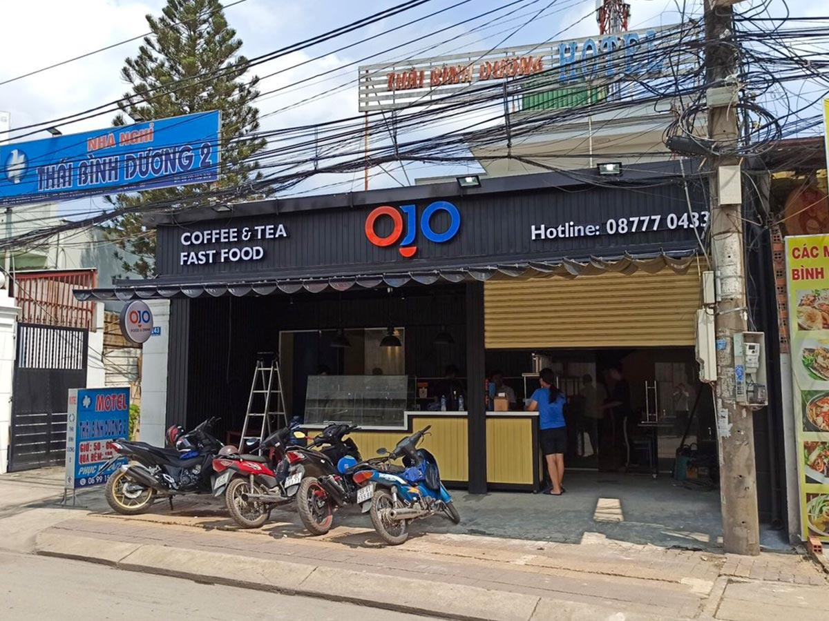 OJO Coffee tọa lạc tại Sóng Thần Bình Dươn