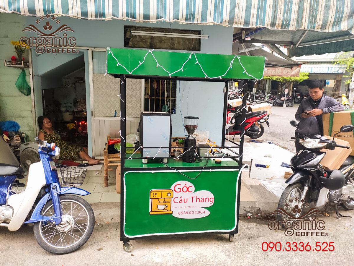 Cung Cấp Bộ Máy Pha Cà Phê CRM-3200B Cho Xe Café TakeAway Góc Cầu Thang