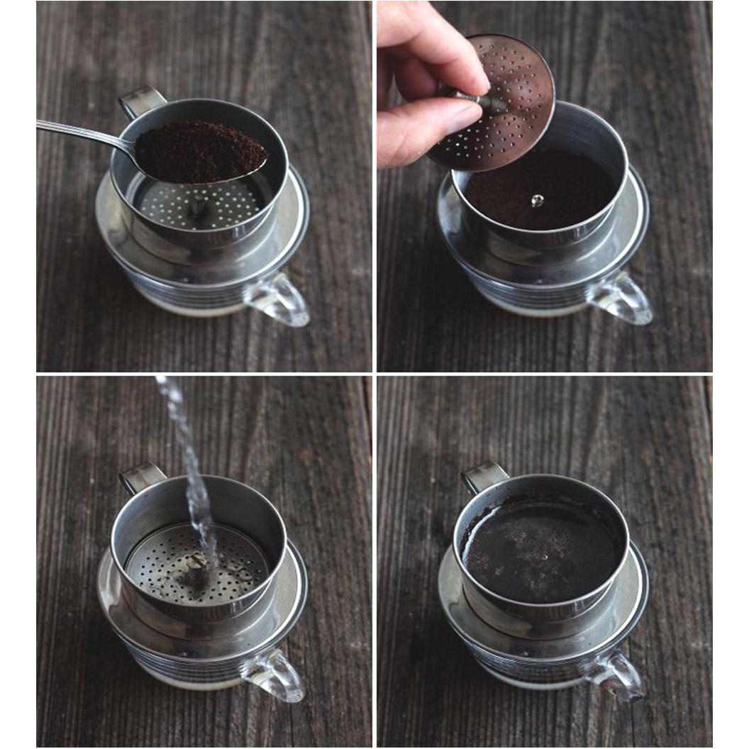 Thực hiện đúng trình tự các bước pha cà phê tiêu chuẩn