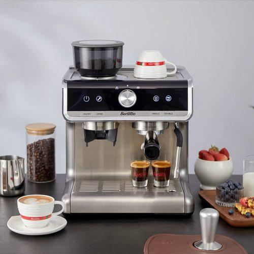 máy pha cà phê bán tự động tích hợp máy xay cafe Basetto 15Bar