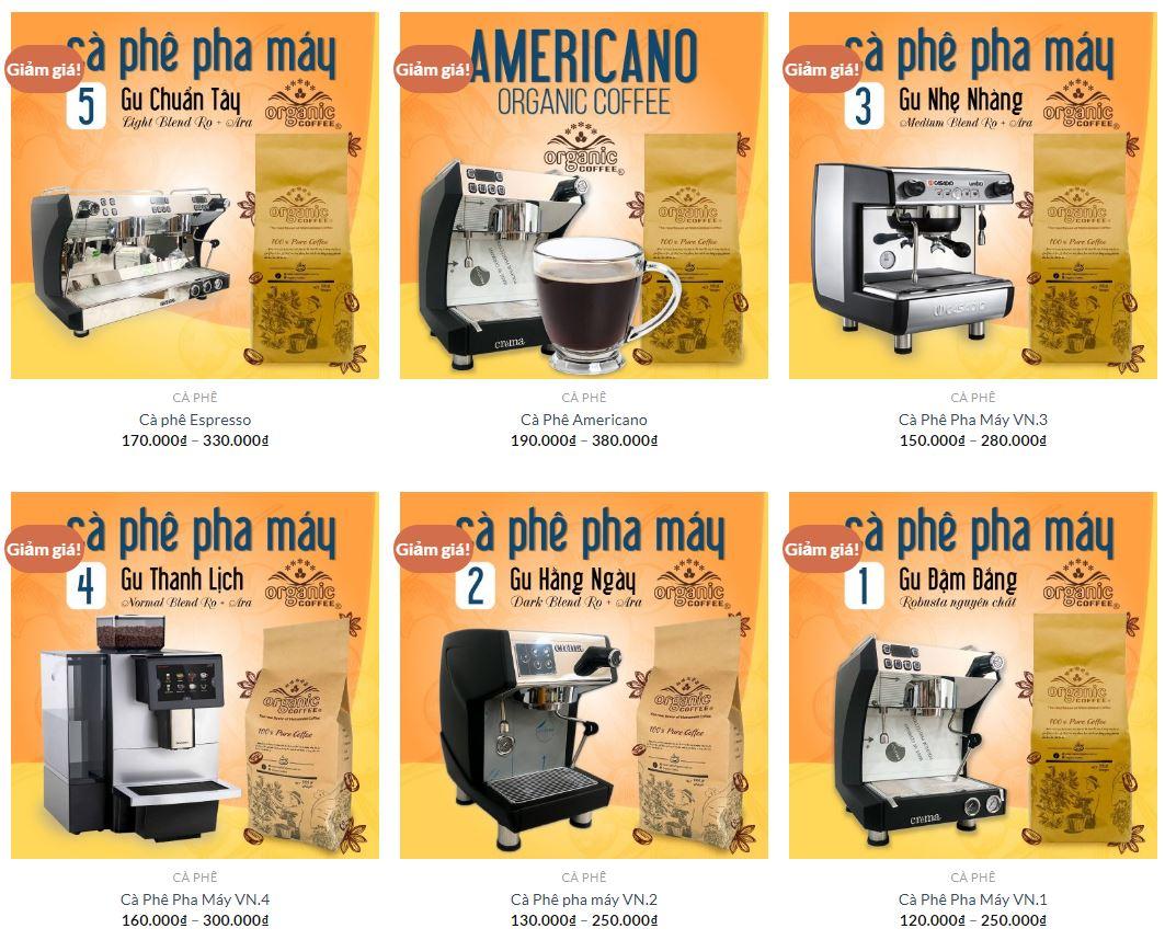 Cà Phê Hạt Rang Pha Máy Espresso