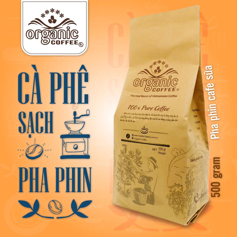 Cà Phê Pha Phin Robusta Gói 500gram – VN1 - Organic Cofee